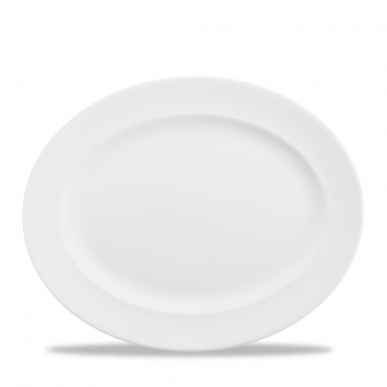 OVAL RIMMED DISH