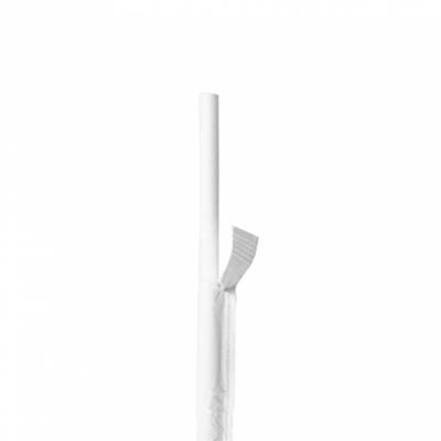 CANUCCE DRITTE IMBUSTATE BIANCHE Ø0,60x20 CM BIANCO CARTA (6000 UNITÀ)