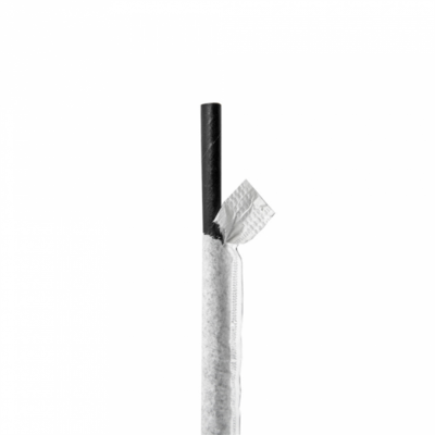 CANUCCE DRITTE IMBUSTATE BIANCHE Ø0,60x20 CM NERO CARTA (6000 UNITÀ)