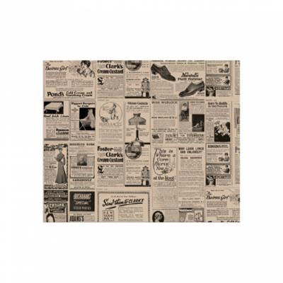 CARTA ANTIGRASSO PER HAMBURGER 'TIMES' 34 G/M2 28x34 CM NATURALE (1000 UNITÀ)