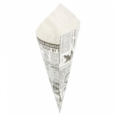 SACCHETTI A CONO ANTIGRASSO 'TIMES' 250 G 70 G/M2 29,5x21 CM BIANCO (2000 UNITÀ)