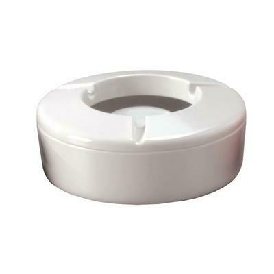 Posacenere Antivento 12,5 cm Bianco Melamina V22 Tirolix