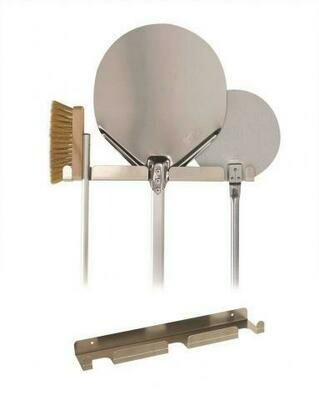 Appendipale da Parete 3 Posti in Alluminio 41,5x8 cm - Gi.Metal