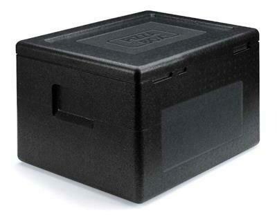 Contenitore Pizza Box 42x42 cm Nero 115912 Polibox