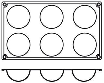 Placche Semisfera 7 cm PA001 Agnelli