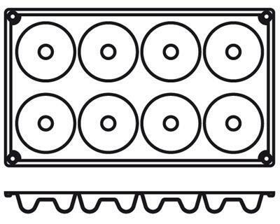 Placche Savarin 6,5 cm PA010 Agnelli