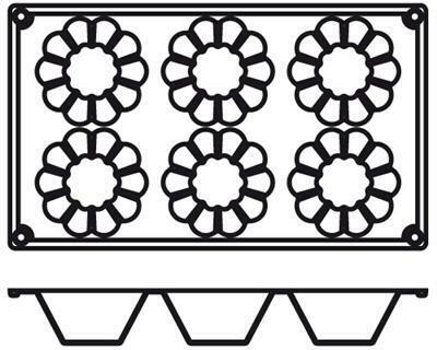 Placche Briochette 7,9 cm PA012 Agnelli
