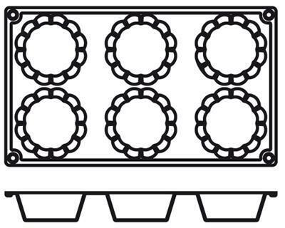 Placche Briochette 7,9 cm PA027 Agnelli