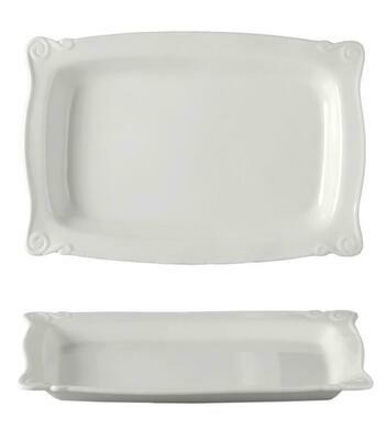 Tirolix - Vassoio Rettangolare Festonato 30x21 cm Plates 3728