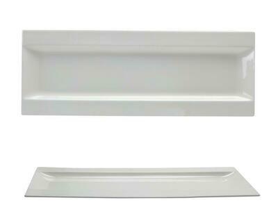 Tirolix - Piatto Rettangolare Ala 40x17 cm Gourmet Bone China