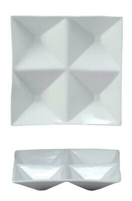Tirolix - Antipastiera Quadra 4 Scomparti 16x16 cm Antipastiere