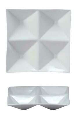 Tirolix - Antipastiera Quadra 4 Scomparti 26x26 cm Antipastiere