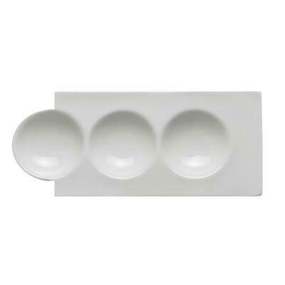 Tirolix - Vassoio Rettangolare 3 Scomparti 25x10 cm Antipastiere