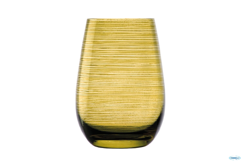 TWISTER - BICCHIERE VERDE OLIVA CL 46,5