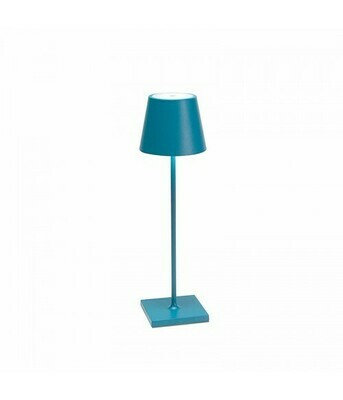 Lampada da Tavolo Poldina Pro Blu Avio - Zafferano