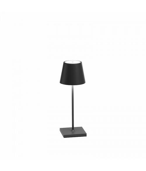 Lampada da Tavolo Poldina Pro Mini Grigio Scuro - Zafferano