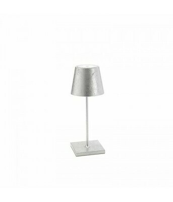 Lampada da Tavolo Poldina Pro Mini Metal Argento - Zafferano
