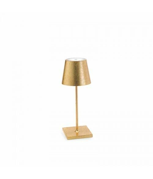 Lampada da Tavolo Poldina Pro Mini Metal Oro - Zafferano