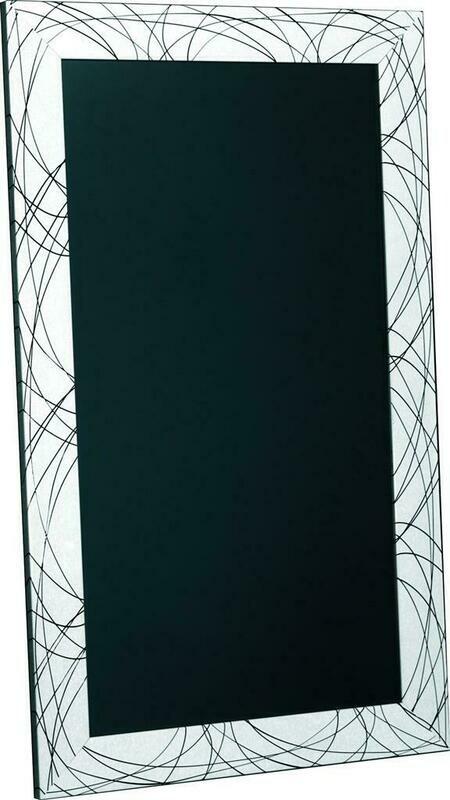 Lavagna 60x100 cm Bianco Righe Nere Tokyo MT302 - Nero Lavagne