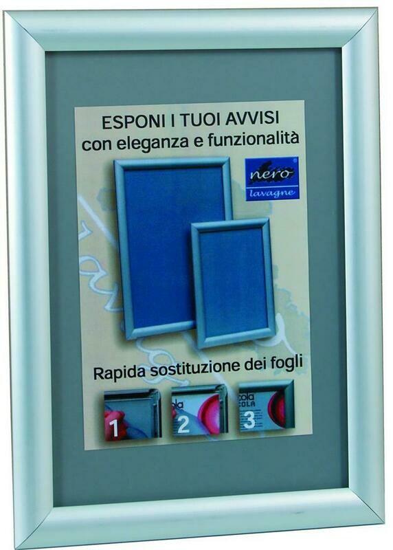 Cornice 21x30 cm Alluminio Scatto EN04 Nero Lavagne