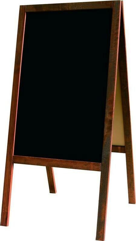 Lavagna Bifacciale 60x125 cm Noce GN01 - Nero Lavagne