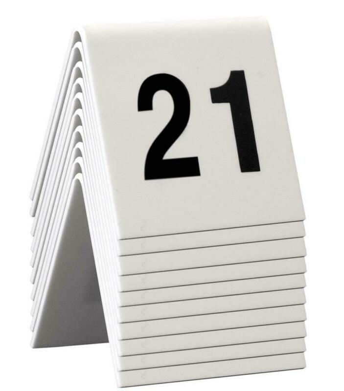 C/10 Numeri Da Tavolo 5x4 cm Bianco TN-21-30-WT Securit