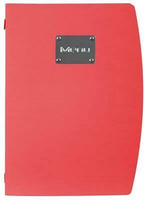Portamenù 34x25 cm Rosso Rio MC-RCA4-RD Securit