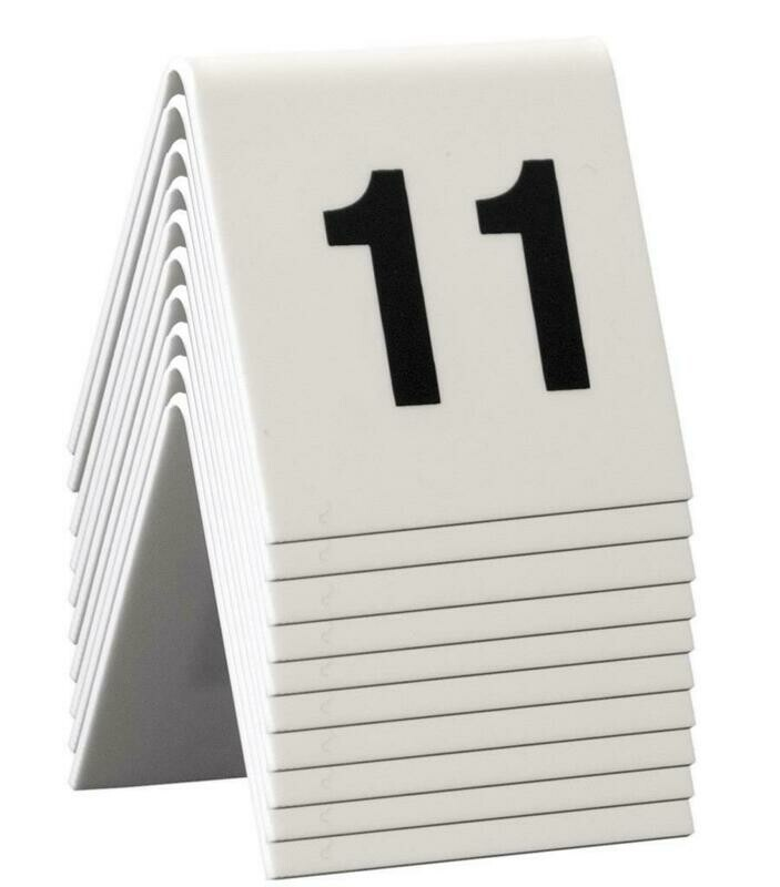 C/10 Numeri Da Tavolo 5x4 cm Bianco TN-11-20-WT Securit