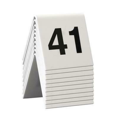 C/10 Numeri Da Tavolo 5x4 cm Bianco TN-41-50-WT Securit