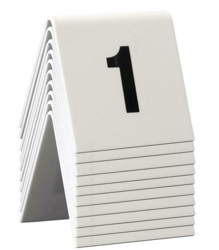 C/10 Numeri Da Tavolo 5x4 cm Bianco TN-1-10-WT Securit