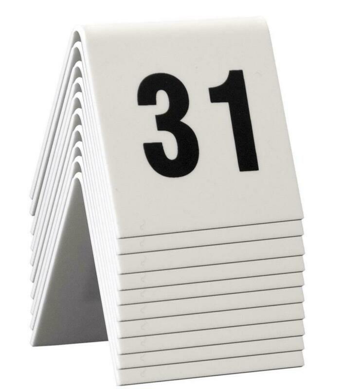 C/10 Numeri Da Tavolo 5x4 cm Bianco TN-31-40-WT Securit