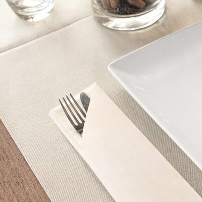 Portaposate Giò Bianco con tovagliolo Color Bianco 20x40  conf 720 pz