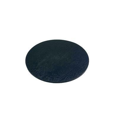 Tagliere Tondo Effetto Legno 33 cm Nero 7453 Mc