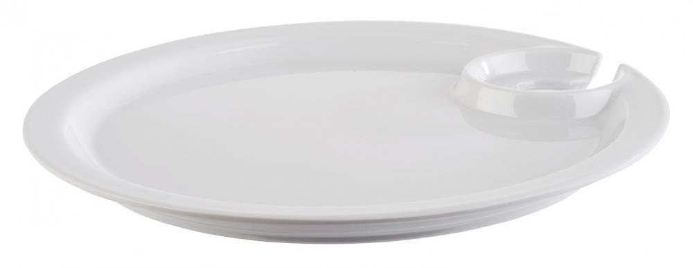 """APS - Piatto con porta bicchiere """"COCKTAIL"""" 19 x 19 cm"""