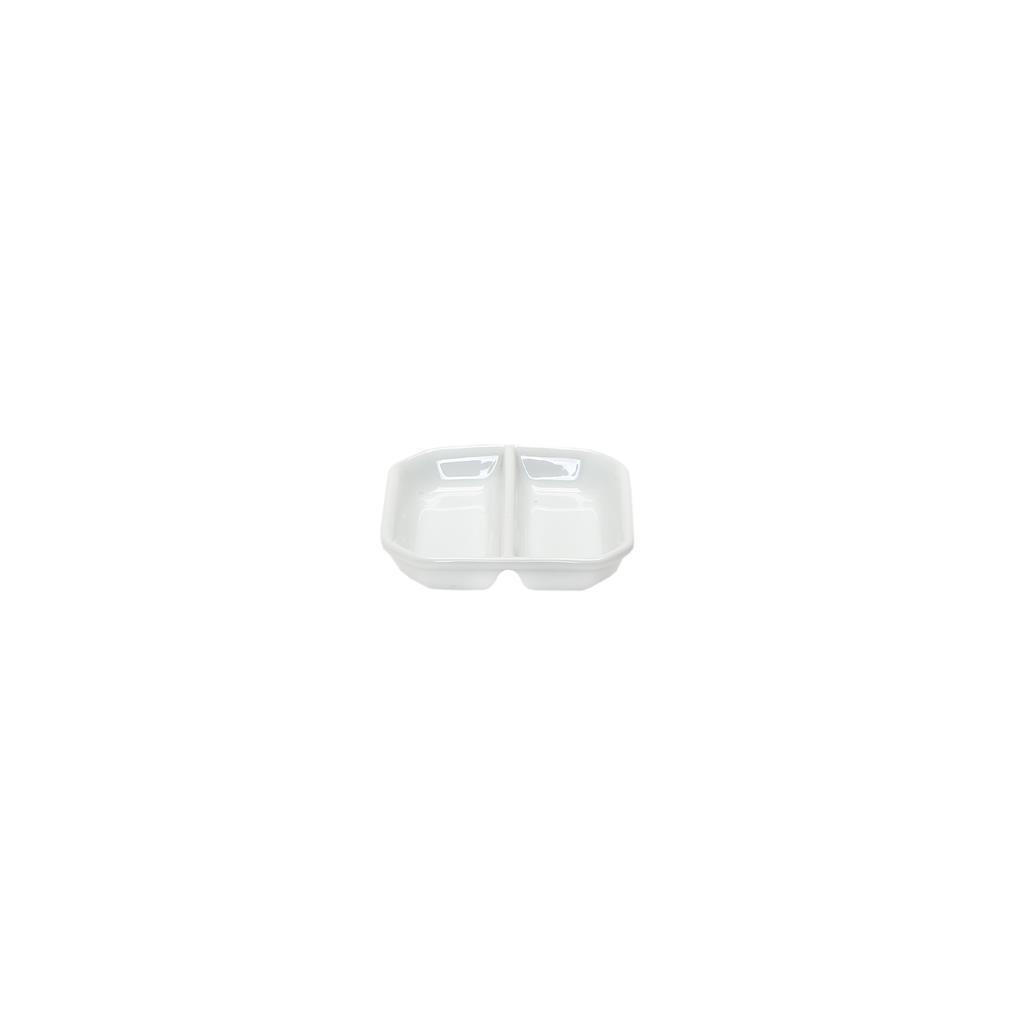 Piattino 2 Scomparti 9x9 cm Forma 40 4008 Royal Porcelain
