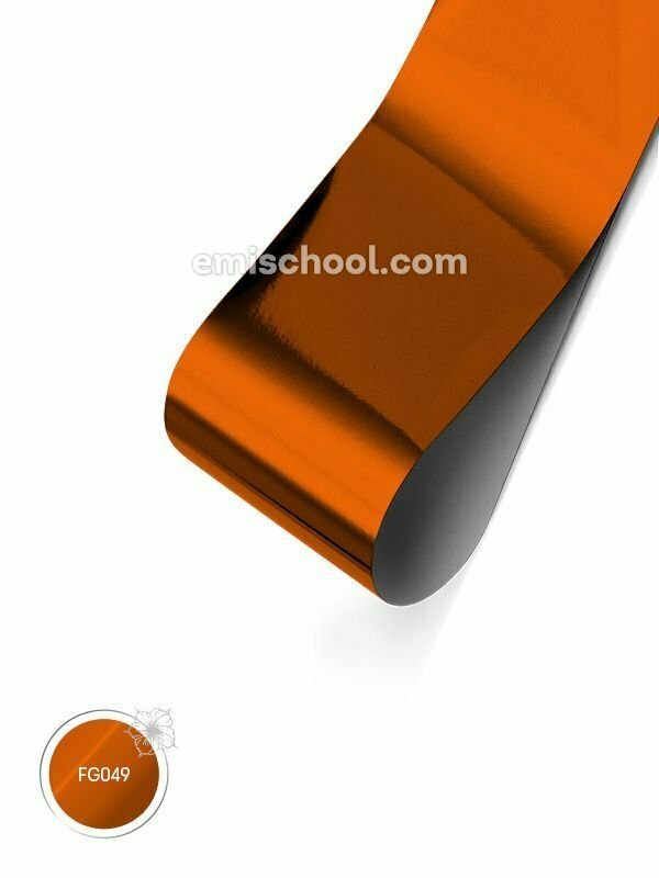 Foil glossy Orange Copper, 1.5 m