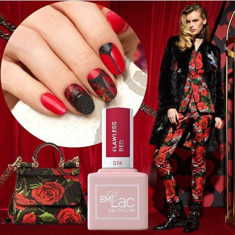 E.MiLac DV Flawless Red #074, 9 ml