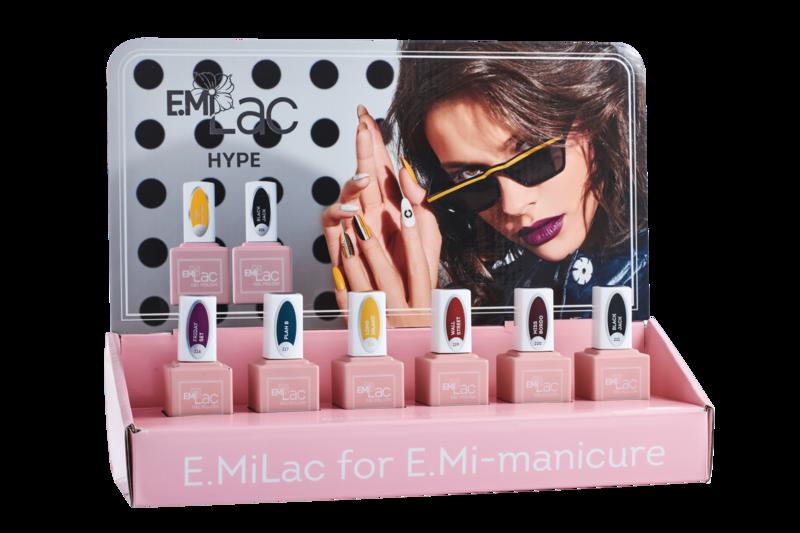 Set E.Milac Hype + Gratis Display en zelfklevende etiketten voor een kleurendisplay