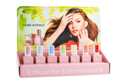 Display E.MiLac Park Avenue Set van 5 kleuren