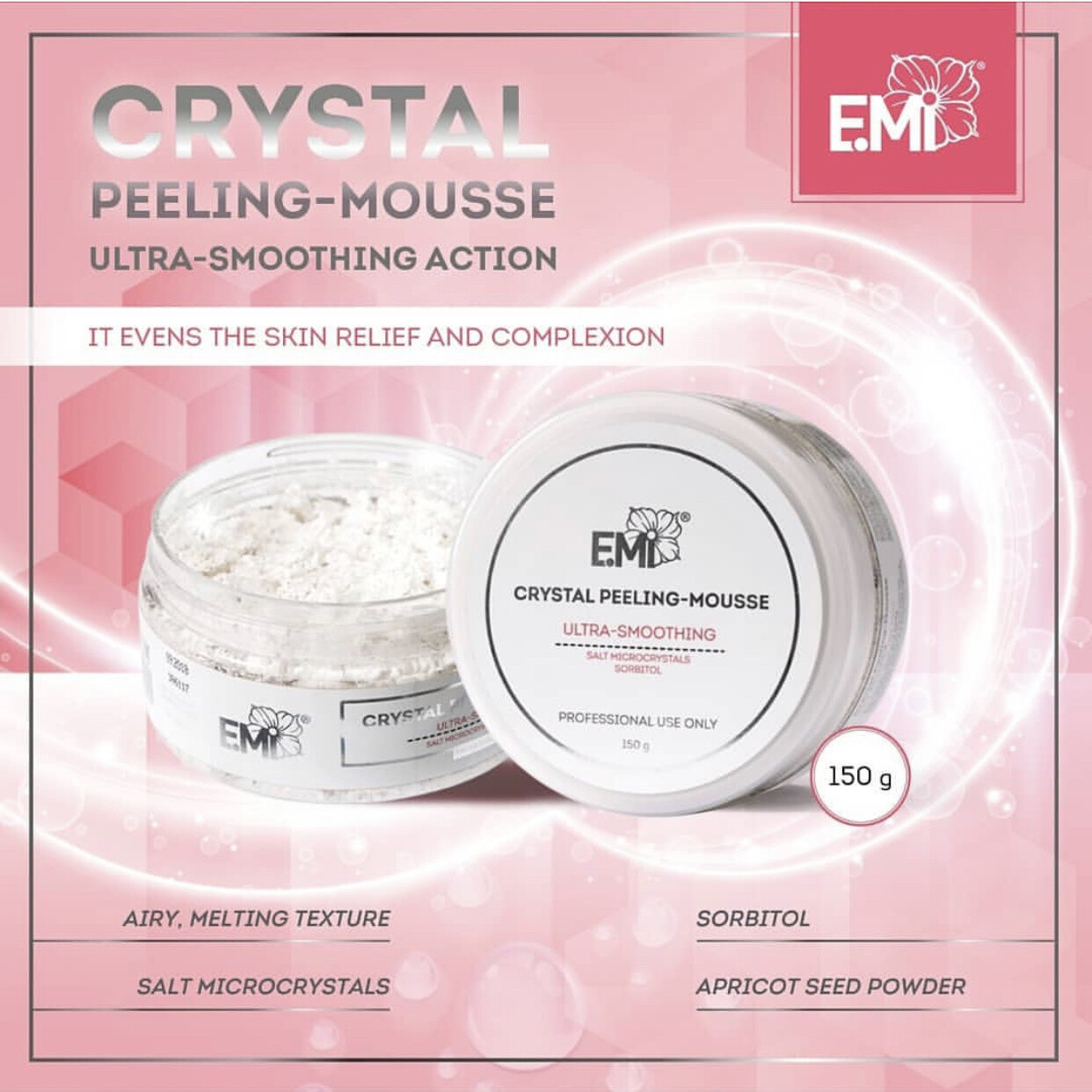 Crystal Peeling-Mousse, 150 g.