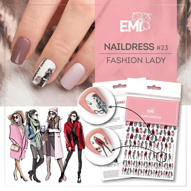 Naildress Slider Design #23 Fashion Lady
