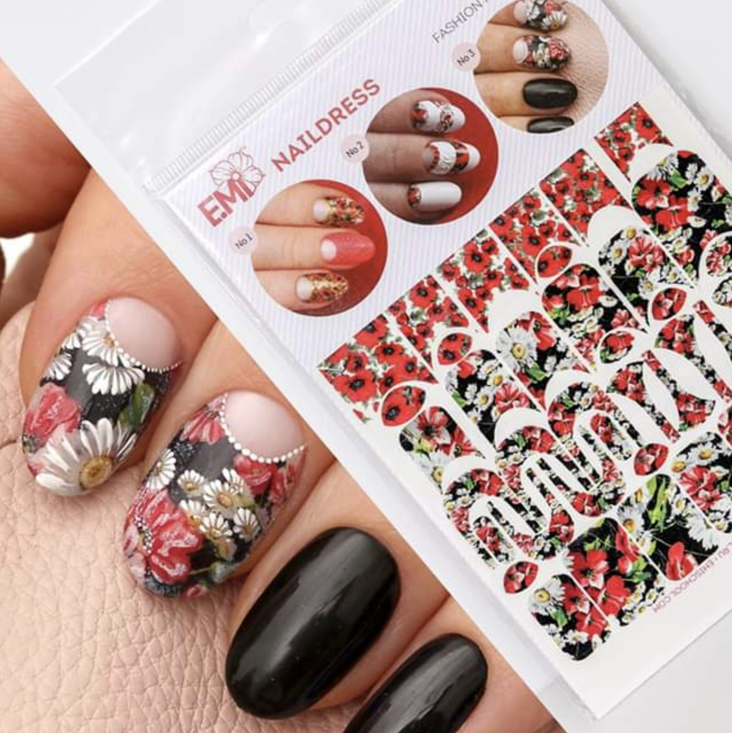 Naildress Slider Design Poppies