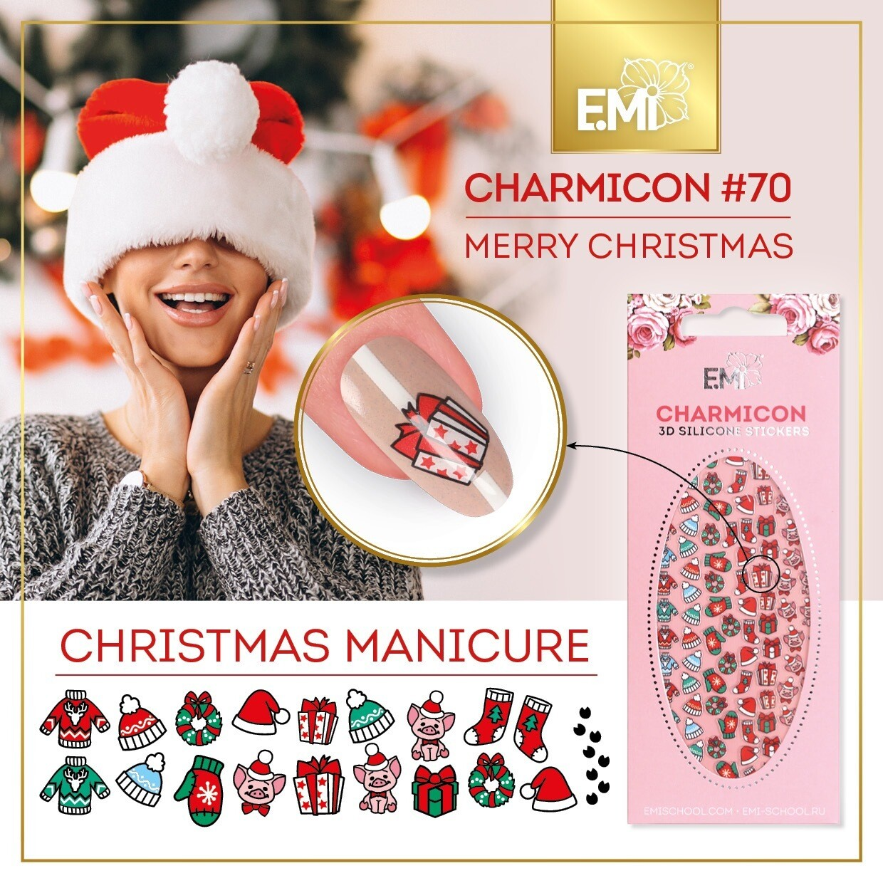 Charmicon Silicone Stickers #70 Merry Christmas