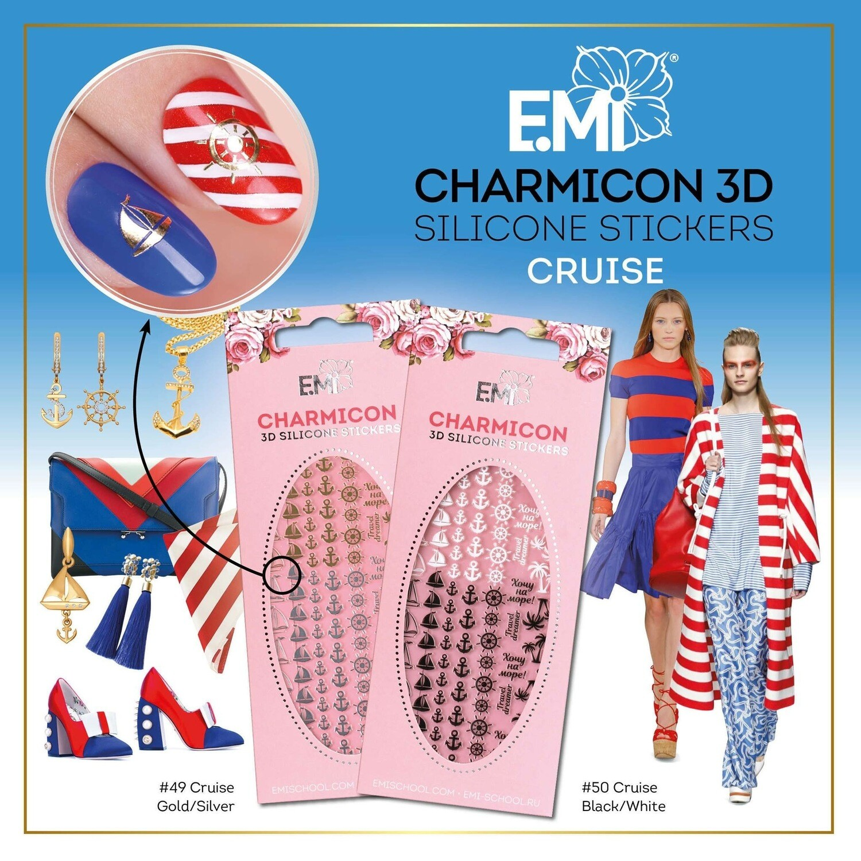 Charmicon Silicone Stickers #49 Cruise Gold/Silver
