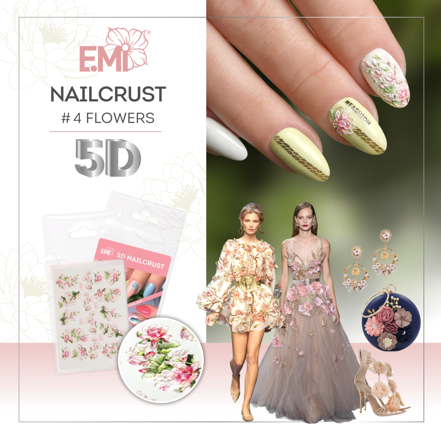 Nailcrust 5D #4 Flowers