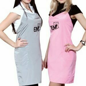 Apron, gray or pink