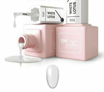 E.MiLac White Lotus Fine Brush, Liner penseeltje + extra gewone penseeltje #001-01, 9 ml.