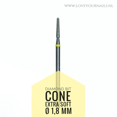Diamond Cone bit - 1.8 mm - Super soft