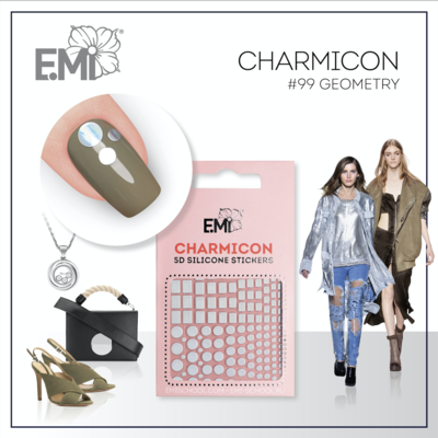 Charmicon Silicone Stickers #99 Geometry