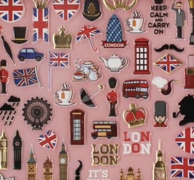 Charmicon Silicone Stickers England